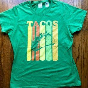 👚 Tacos t shirt! NWT Female cut large